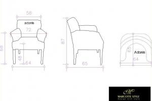 Hedendaagse cottage landelijke stoel ADONIS
