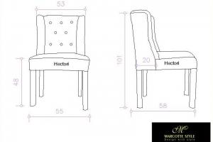Moderne strakke stoel Eva