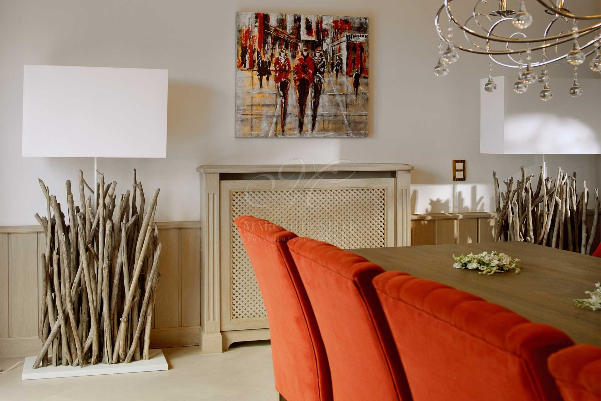 Marcottestyle drijfhout lampen marcotte style