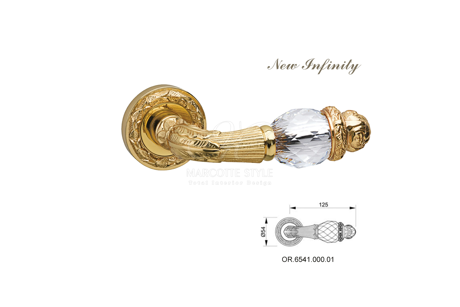 Weelderige gouden klinken marcotte style