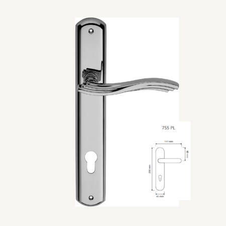 Marcottestyle-klinken-art.124-cod755-MOD.PL.OP-chrome cr-100,5