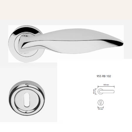 Marcottestyle-klinken-p50-art102-cod955-MOD.RO-102-chrome cr-84,5+24