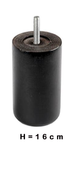 Poten ROND zwart 16cm hoog