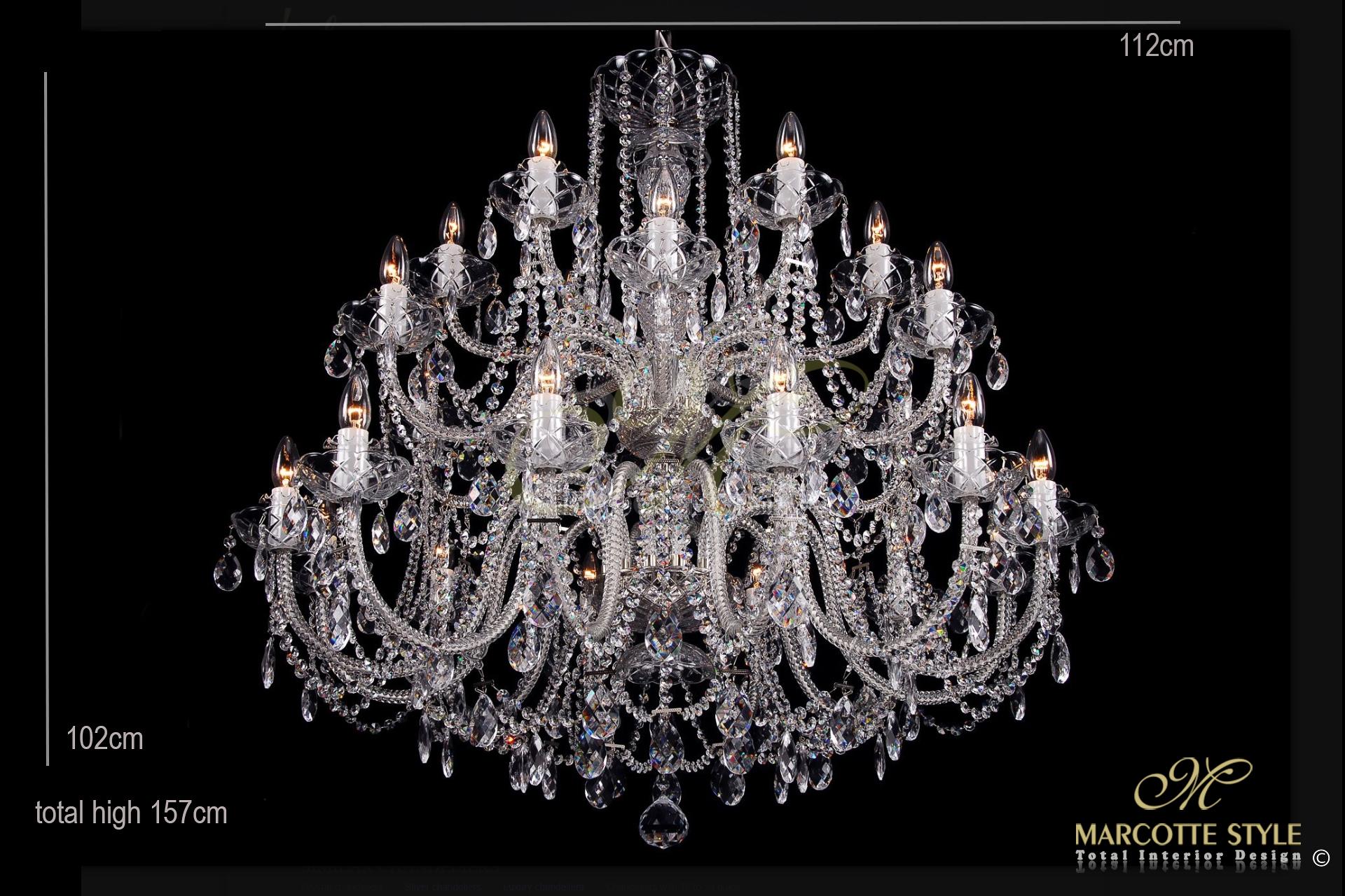 Marcottestyle kristallen kroonluster armen xls marcotte style