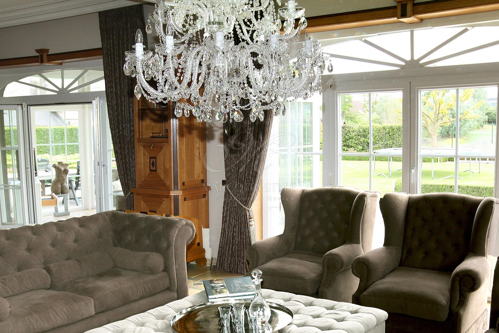 Marcottestyle kristallen kroonluster sfeer marcotte style